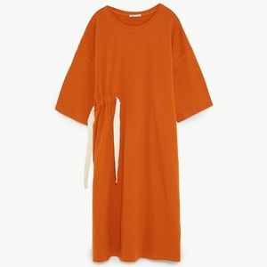 Zara | NWOT Oversized T-Shirt Grunge Midi Dress